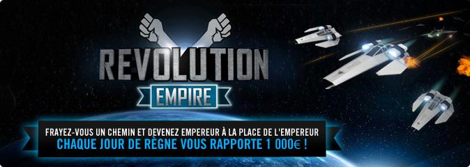 Revolution empire : chaque jour de règne vous rapporte 1000€
