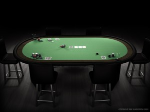 Table de poker vide